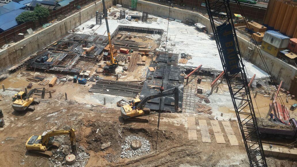Top Down Basement Sub-Structure Work at Jalan P. Ramlee – TA3 &4